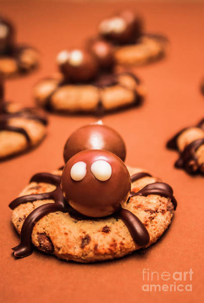 Halloween Homemade Cookie Spiders Poster