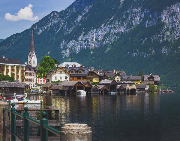 Hallstatt Lakeside Village In Austria Poster