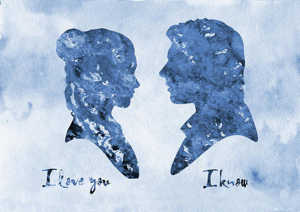 Han Solo And Princess Leia-blue Poster