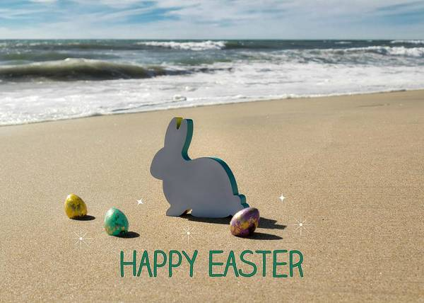 Poster featuring the photograph Happy Easter by Alison Frank