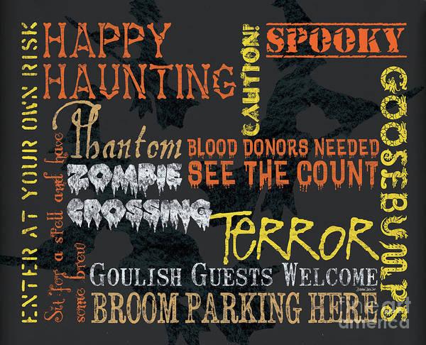 Happy Haunting Typography Poster