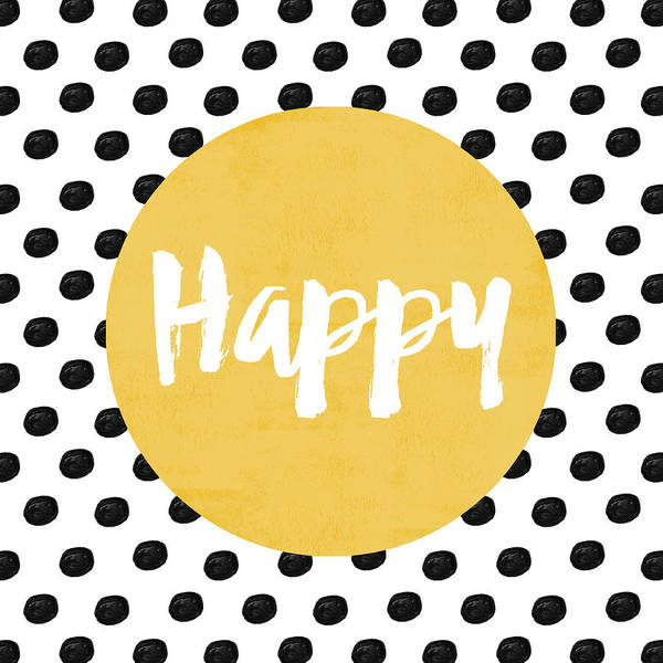 Happy Yellow And Dots Poster