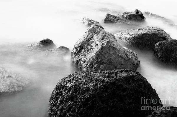 Harbor Rocks And Misty Ocean II Poster