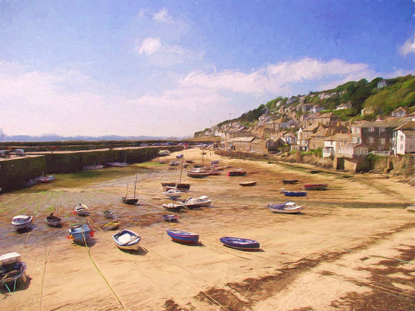 Harbour At Low Tide - Mousehole Poster