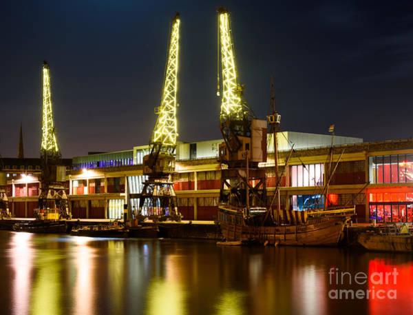 Harbour Cranes Poster