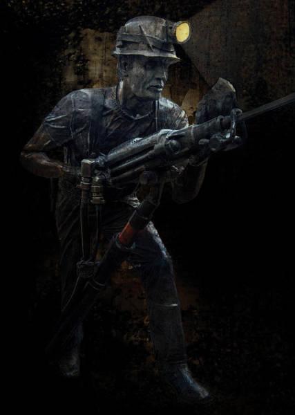 Hard Rock Mining Man Poster
