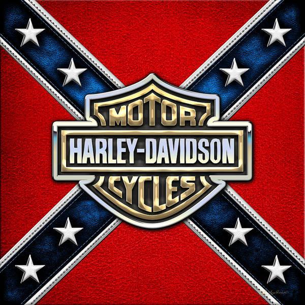 Harley-davidson - 3d Badge Poster