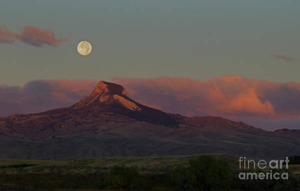 Heart Mountain And Full Moon-signed-#0273  #0273 Poster