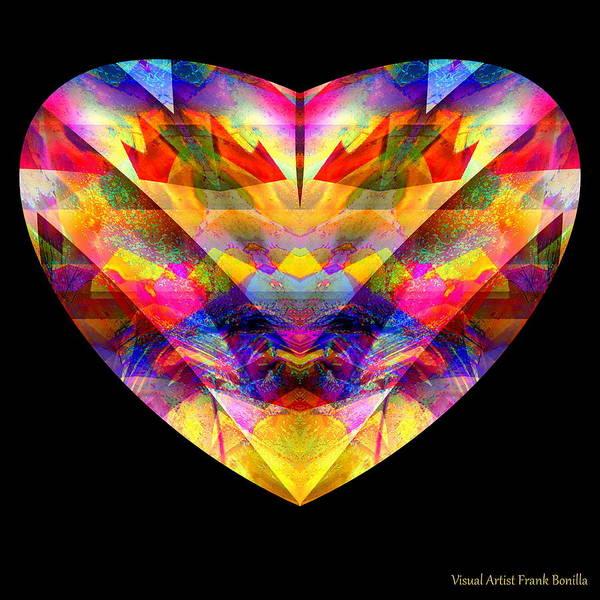 Poster featuring the digital art Hearts #27 by Visual Artist Frank Bonilla