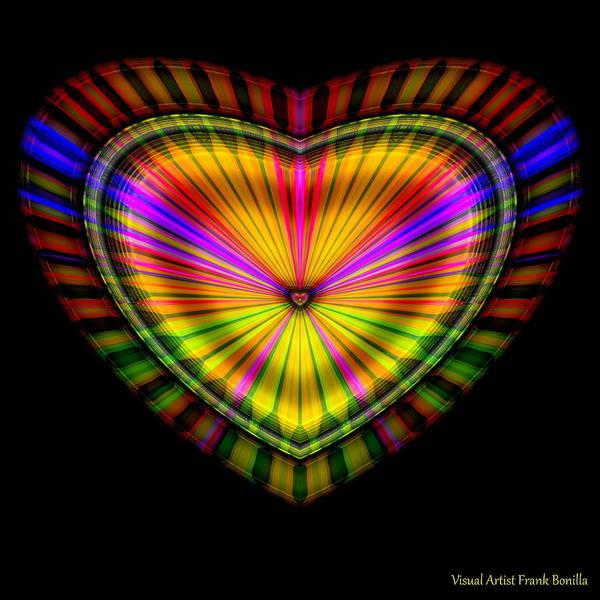 Poster featuring the digital art Hearts #9 by Visual Artist Frank Bonilla