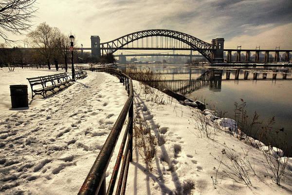 Hellgate Bridge In Winter Poster