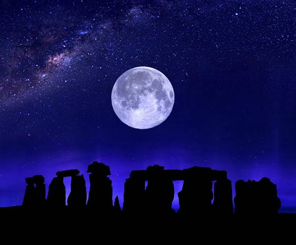Henge Under The Supermoon Poster
