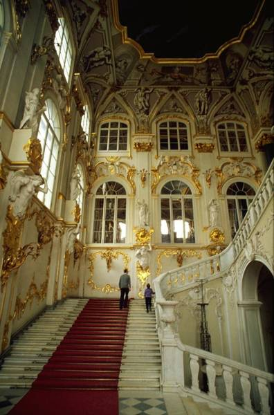 Poster featuring the photograph Hermitage Staircase by Travel Pics