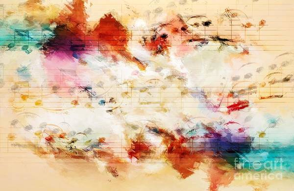 Poster featuring the digital art Heterophony And Inverted Harmony by Lon Chaffin