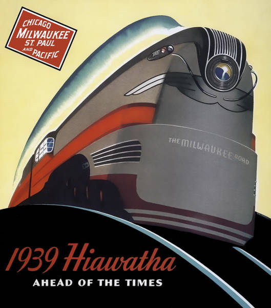 Hiawatha Streamlined Train 1939 Poster