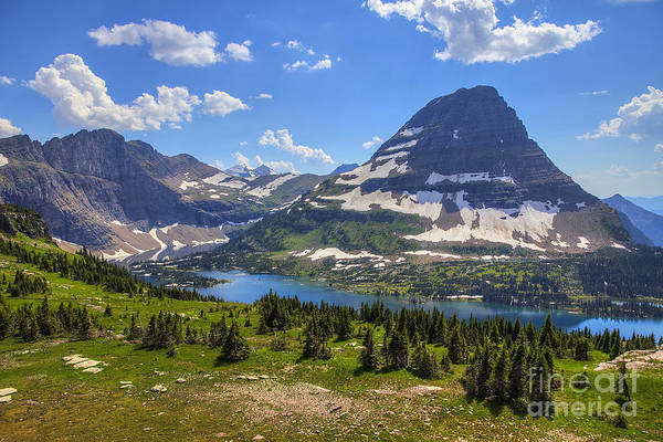Hidden Lake And Bearhat Mountain Poster