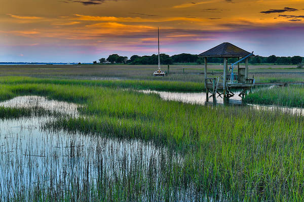 High Tide On The Creek - Mt. Pleasant Sc Poster