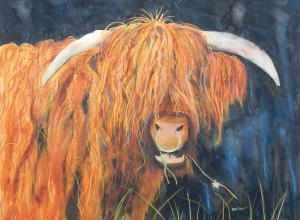 Poster featuring the painting Highland Bullringer by Jean Blackmer