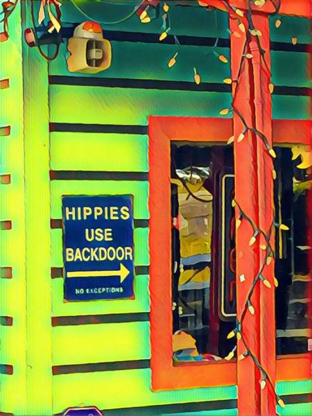 Hippies Use Backdoor Poster