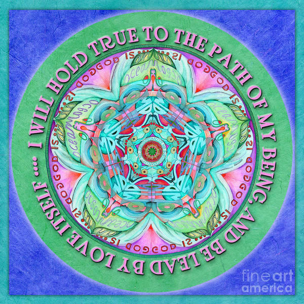 Hold True Mandala Prayer Poster