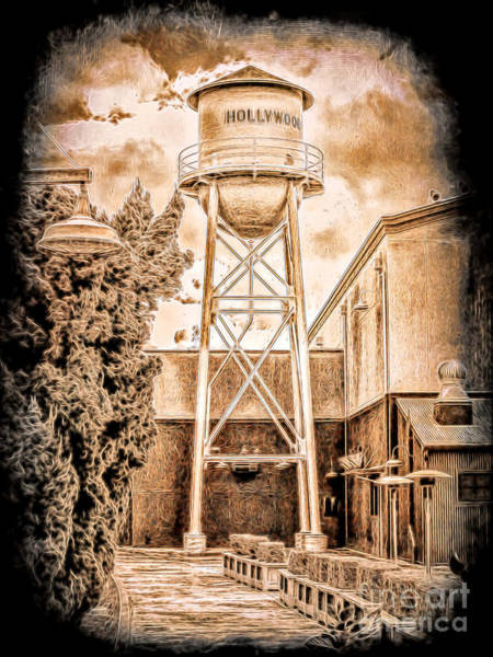 Hollywood Water Tower Poster