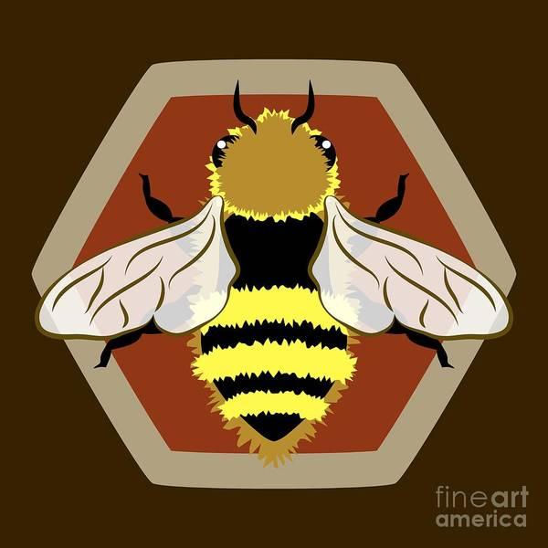 Honey Bee Graphic Poster
