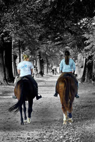 Horsback Rider In Hellbrunn Poster