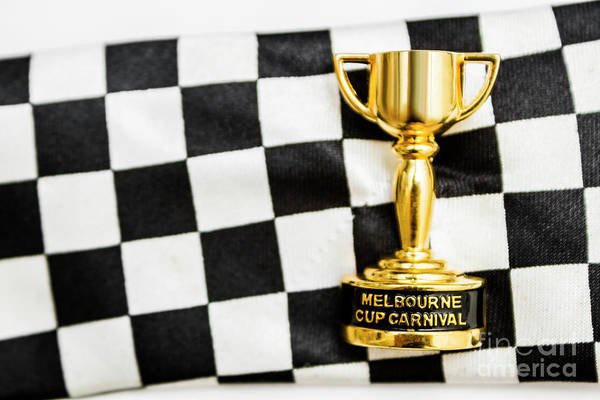 Horse Races Trophy. Melbourne Cup Win Poster