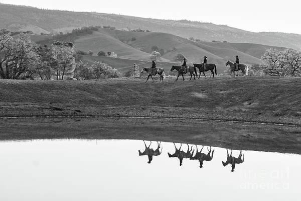 Horseback Landscape Poster