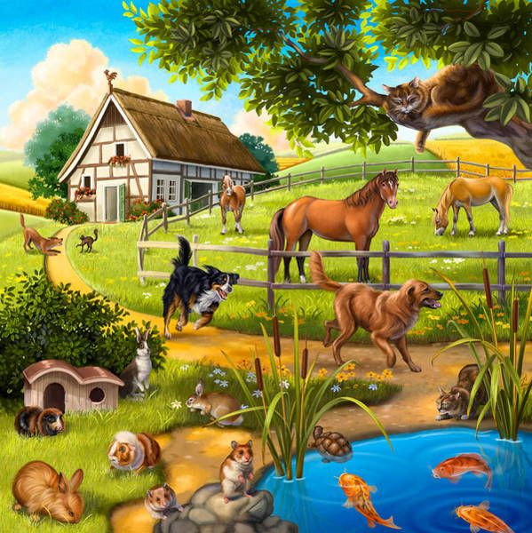 House Animals Poster