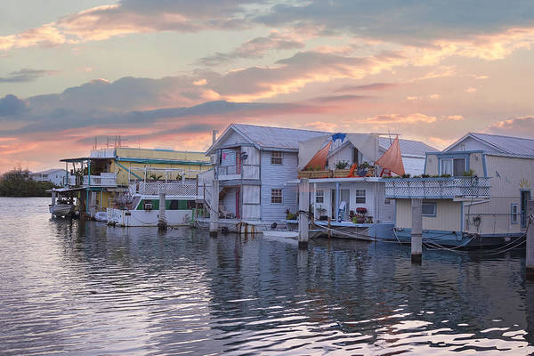 Houseboat Row - Key West Poster