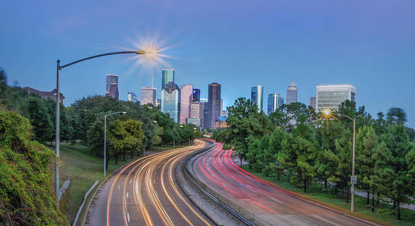 Houston Evening Cityscape Poster