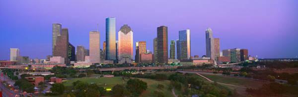 Houston Skyline, Memorial Park, Dusk Poster