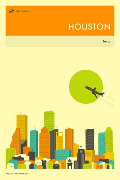 Houston Travel Poster Poster