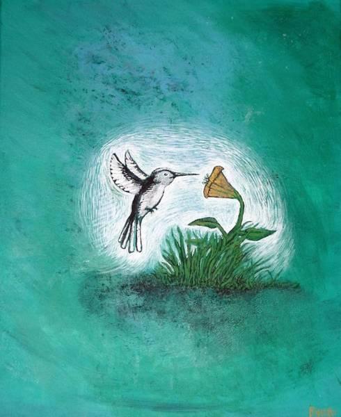 Poster featuring the painting Hummingbird by Antonio Romero