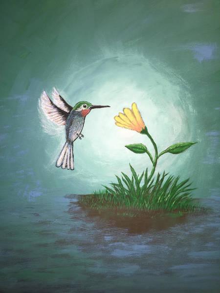 Poster featuring the painting Hummingbird II by Antonio Romero