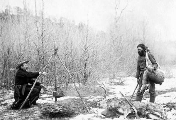 Hunting Camp Winter 1887-88 -- South Dakota Poster