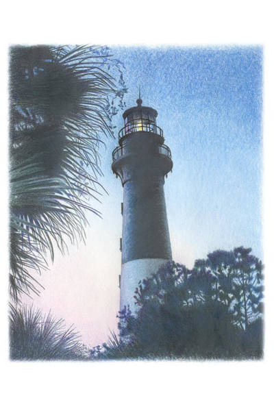 Hunting Island Light Poster