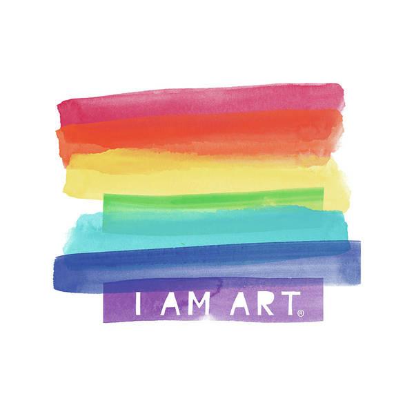 I Am Art Rainbow Stripe- Art By Linda Woods Poster