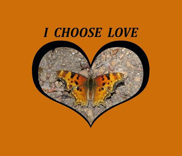 I Chose Love With A Butterfly In A Heart Poster