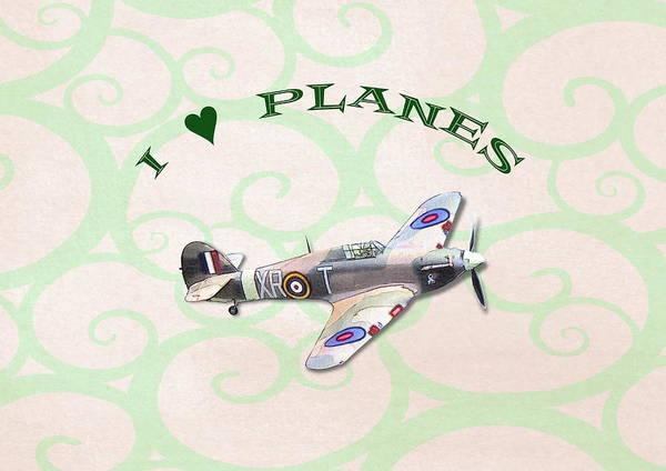I Love Planes - Hurricane Poster
