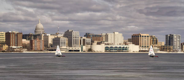 Ice Sailing - Lake Monona - Madison - Wisconsin Poster