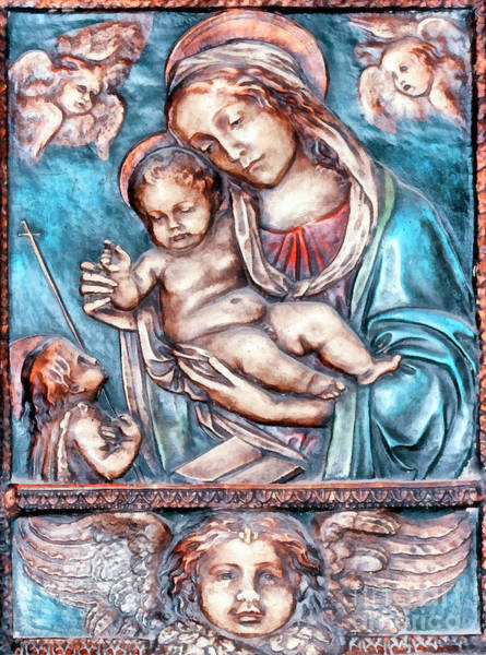 Icon Of Madonna Mother Of God  Poster
