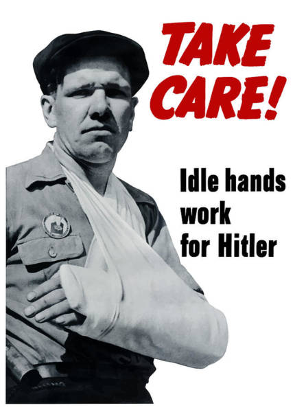 Idle Hands Work For Hitler Poster