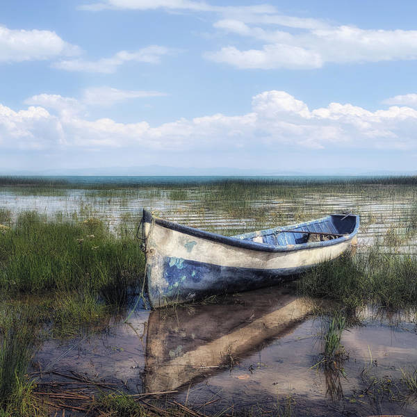 Idyllic Scenery With Boat Poster