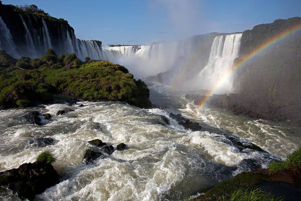 Iguassu Falls With Rainbow Poster