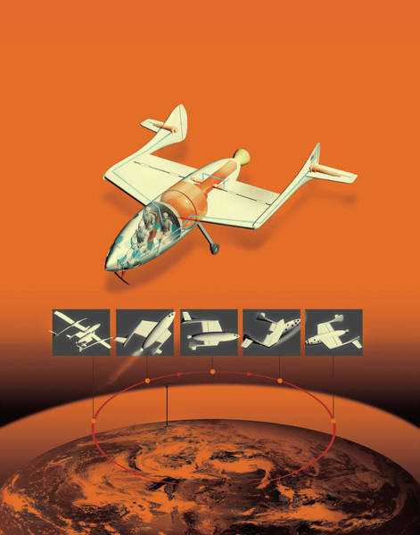 Illustration Of Air Vehicle Poster