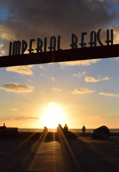 Imperial Beach At Sunset Poster