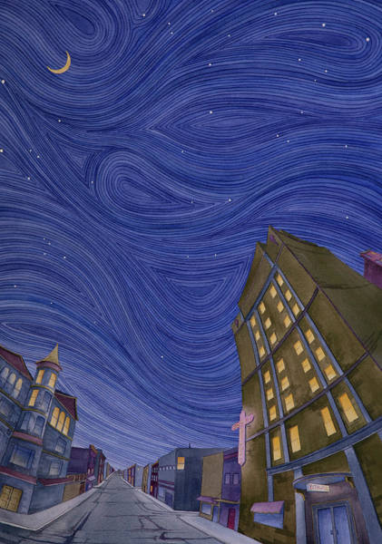 Poster featuring the painting Impressions Of Sedalia Nocturne by Scott Kirby