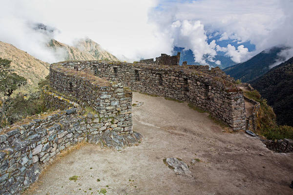 Inca Ruins In Clouds Poster